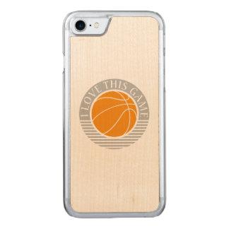 私はこのゲーム-バスケットボール--を愛します CARVED iPhone 8/7 ケース