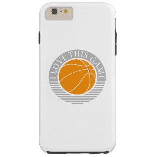 私はこのゲーム-バスケットボール--を愛します TOUGH iPhone 6 PLUS ケース