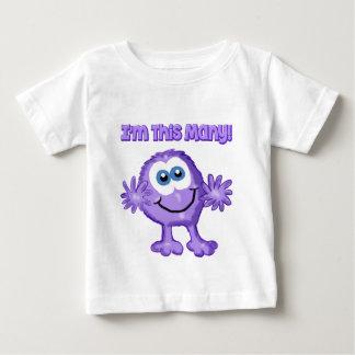 私はこの多くの紫色モンスターの乳児のワイシャツです ベビーTシャツ