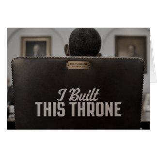 私はこの王位を造りました: 空の椅子は話します カード