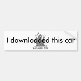私はこの車をダウンロードしました バンパーステッカー