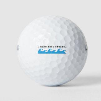 私はこれが-おもしろいなゴルフ・ボールを浮かべることを望みます ゴルフボール