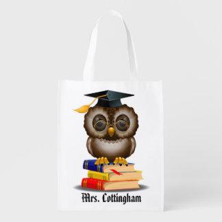 私はこれらのバッグ-先生の賢いフクロウ-をSRF愛します エコバッグ