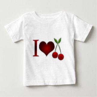 私はさくらんぼを愛します ベビーTシャツ