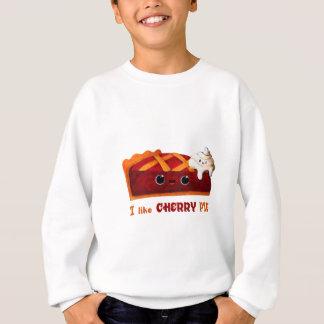 私はさくらんぼパイを愛します スウェットシャツ