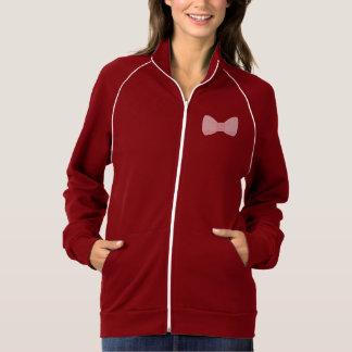 私はすべてあなたの甘いピンクの弓ジャケットです ジャケット