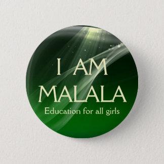 私はすべての女の子のためのMalalaの教育です 5.7cm 丸型バッジ