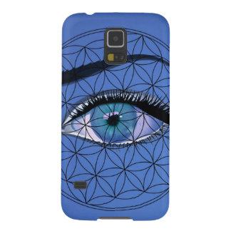 私はすべての見る青い目を見ます GALAXY S5 ケース