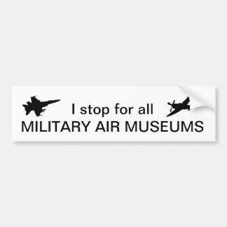 私はすべての軍の空気博物館のためにストップ バンパーステッカー