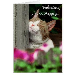 私はそう幸せなバレンタインです ノートカード