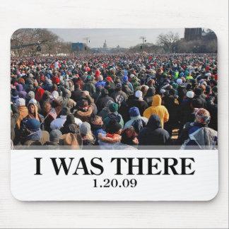私はそこにいました: オバマの就任式の群集 マウスパッド