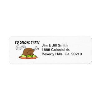 私はそのトルコを煙らします ラベル