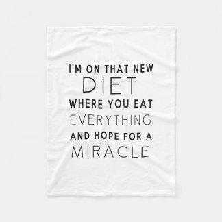 私はその新しいダイエット-おもしろいな引用文にあります フリースブランケット