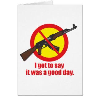 私はそれがよい日だったことを言うために得ました カード