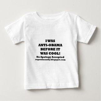 私はそれが涼しかった前にアンチオバマでした ベビーTシャツ