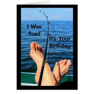 私はそれですあなたの誕生日つま先で触られました カード