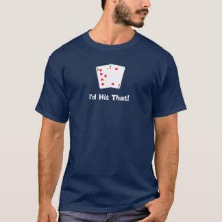 私はそれに当ります!  ブラックジャックのティー Tシャツ