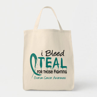 私はそれらのためのティール(緑がかった色)を戦いの卵巣癌出血させます トートバッグ