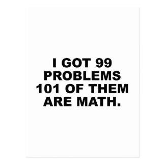 私はそれらの99の問題101をです数学得ました ポストカード