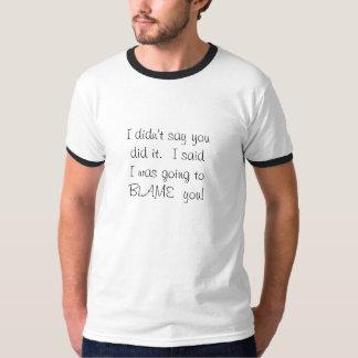私はそれをしたことを言いませんでした。  I saidIは…行っていました Tシャツ