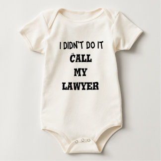 私はそれを、電話します私の弁護士をしませんでした ベビーボディスーツ
