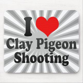 私はだまされやすい人の射撃、発砲を愛します マウスパッド