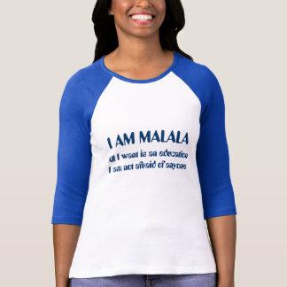私はだれでもを恐れていないMalalaです Tシャツ