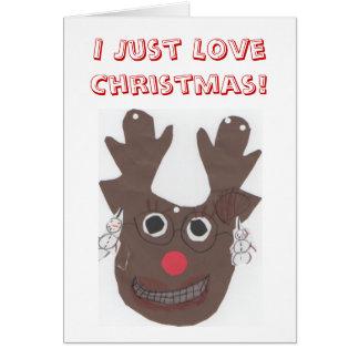 私はちょうどクリスマスの挨拶状を愛します カード