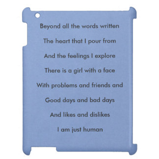 「私はちょうど女の子のIpadの人間の」例です: 青い iPadケース