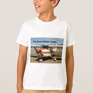 私はちょうど平らな熱狂するです: セスナの航空機 Tシャツ