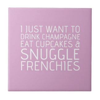 私はちょうど-シャンペン及びフランス人ほしいです タイル