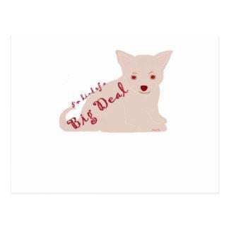 私はちょっと大事のチワワの子犬の態度です ポストカード