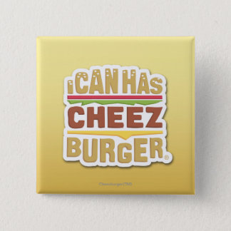 私はできます持っていますCheezburger (影)を 5.1cm 正方形バッジ
