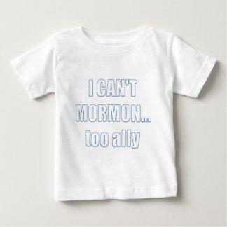 私はできませんモルモン… 余りに同盟国 ベビーTシャツ