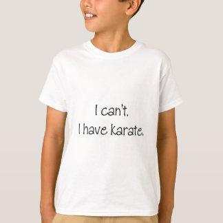 私はできません。 私は空手を有します Tシャツ