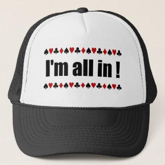 """""""私はですすべて!""""  トランプのポーカーの帽子 キャップ"""