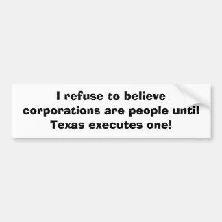 私はです人々までの株式会社を信じることを断ります バンパーステッカー
