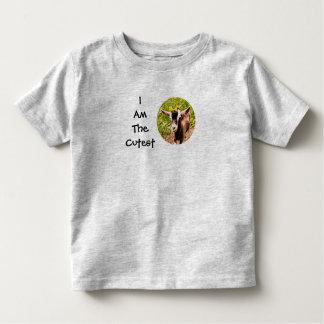 私はです最もかわいい子供(赤ん坊のヤギの写真) トドラーTシャツ