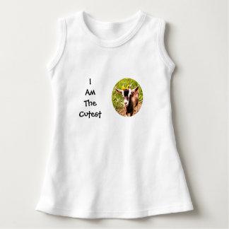 私はです最もかわいい子供(赤ん坊のヤギの写真) ドレス