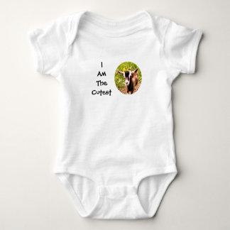 私はです最もかわいい子供(赤ん坊のヤギの写真) ベビーボディスーツ