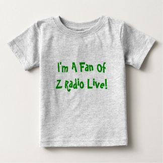 """""""私はです生きているZのラジオのファン!"""" ベビーのティー ベビーTシャツ"""