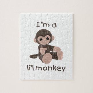 私はですl'il猿(茶色) ジグソーパズル