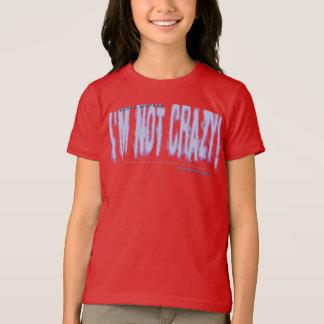 私はではないです熱狂するではないロゴのワイシャツ(女の子) Tシャツ