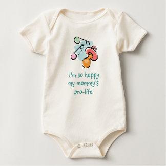 私はとても幸せ妊娠中絶反対私のお母さんです ベビーボディスーツ