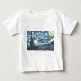 私はとの星明かりの夜私の夢の引用文を絵を描きます ベビーTシャツ