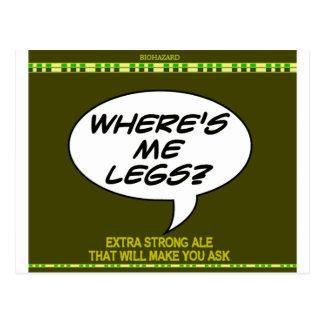 私はどこに足ですか。 ビール ポストカード