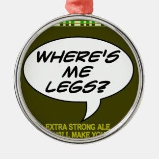 私はどこに足ですか。 ビール メタルオーナメント