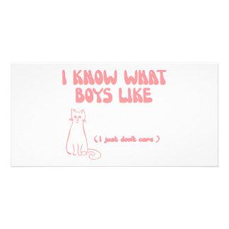私はどんな男の子が…好むか知っています 私はどうしても気になりません カード