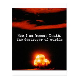 私はなった死、世界の破壊者です ポストカード