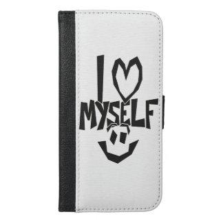 私はにこやかな自分自身を愛します iPhone 6/6S PLUS ウォレットケース
